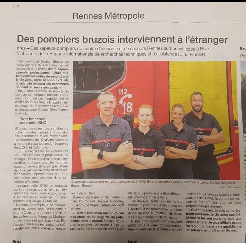 Edition Ouest France du 11-11-2019