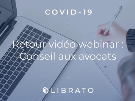 Covid-19 : Conseils aux avocats