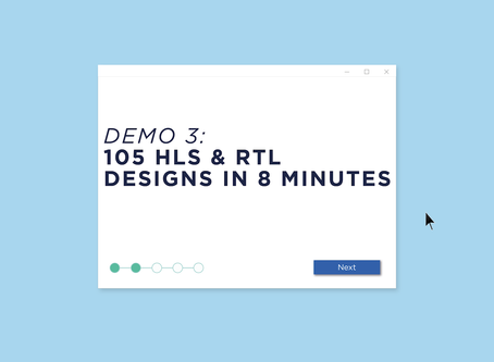 Demo 3: 105 HLS & RTL Design in 8 Minutes