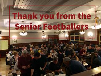 Senior Footballers Quiz Night - Thanks!