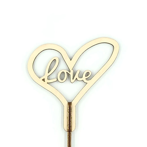 """Топпер мини """"Love"""" в виде сердца, сборный"""