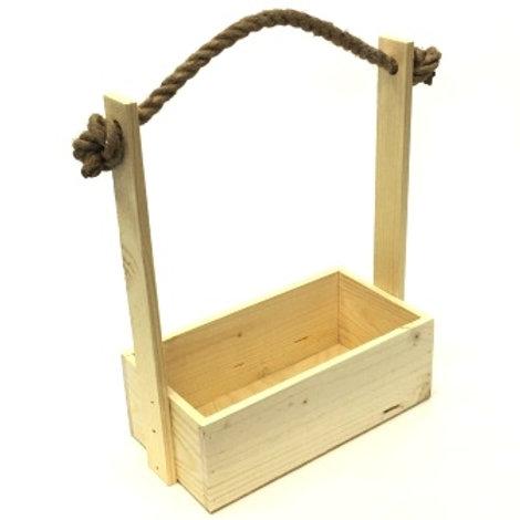 Корзина Лоран малая с веревочными ручками (16x11,5x24-9)