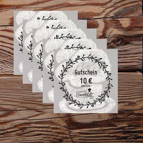5x10 EURO-Gutscheine für unseren Eisladen per Post