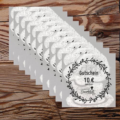 10x10 EURO-Gutscheine für unseren Eisladen per Post [0% MwSt.]