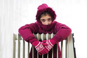 girl in coat and gloves