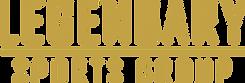 Legendary Sports Group Text Logo Gold (R