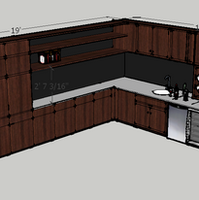 wet bar and wall storage study
