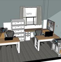 Bakery Office Study 3-D