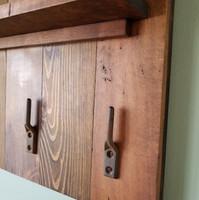 Custom coat rack & display shelf
