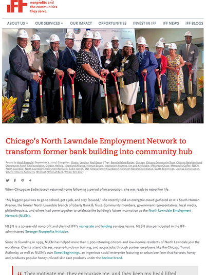 Chicago's NLEN to Transform Former Bank Building into Community Hub