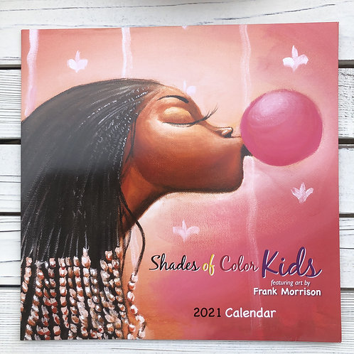Shades Of Color Kids 2021 African American Wall Calender