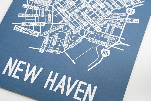 New Haven Street Map Scene