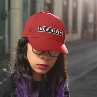 dad-hat-mockup-of-an-edgy-woman-with-pur