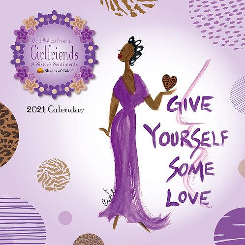 Girlfriends, A Sister's Sentiments 2021 Wall Calendar