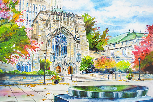 Yale Sterling Memorial Library Signed Print