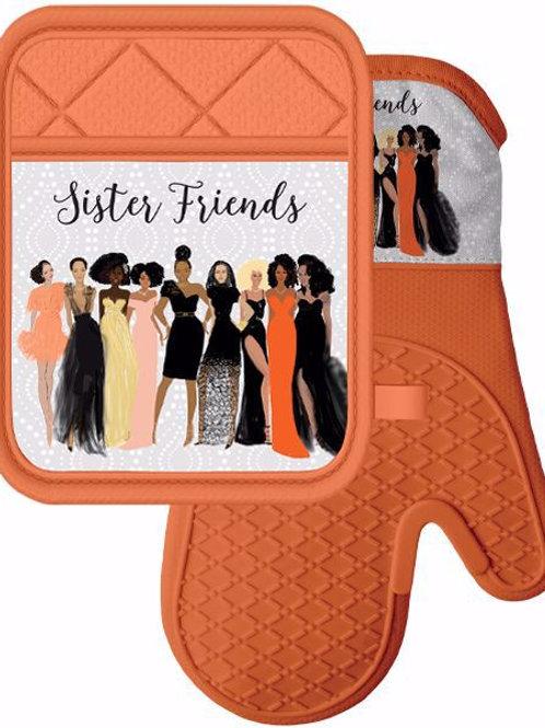 Sister Friends Mitt & Pot Holder Set