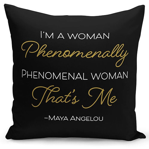 Maya Angelou Phenomenal Woman Pillow Cover