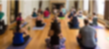 New Haven locals working on their health and wellness in a small yoga studio business