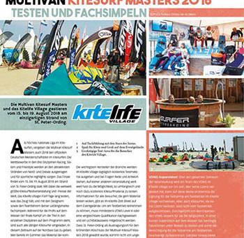 Testen & Fachsimpeln bei den Multivan Kitesurf Masters in SPO