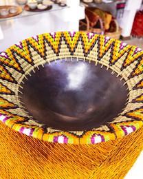 Ukuthula Wicker and Ceramic Bowl