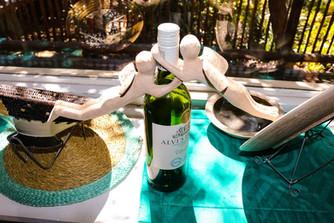 Ukuthula Wine Bottle Angels
