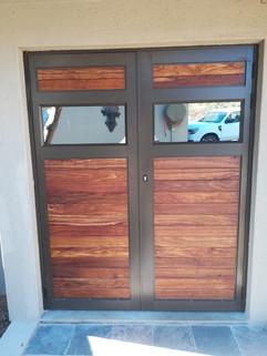 Double Hinged Door - Aluminium Wood Hybrid