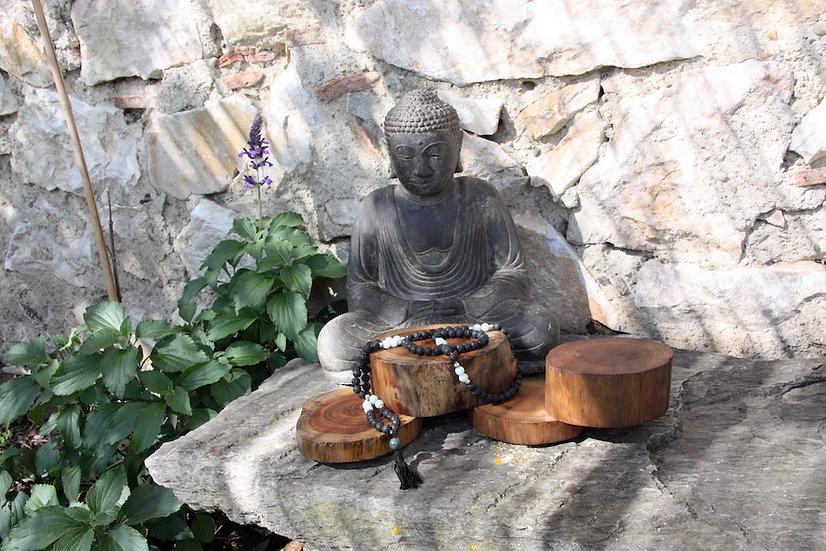 Mala de Méditation - Pierre de Lave - Fait main