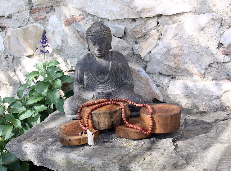 Mala de Méditation - Plume - Fait main