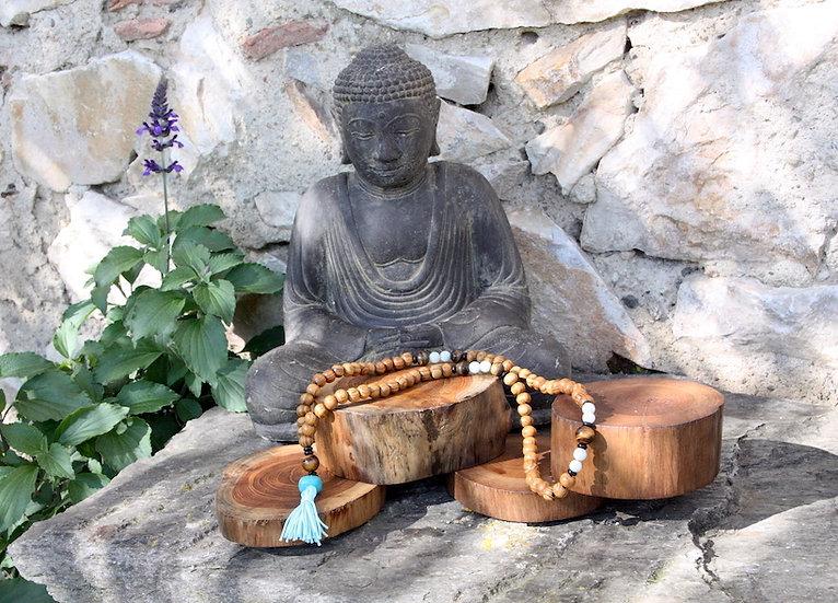 Mala de Méditation - Chakra Gorge - Fait main