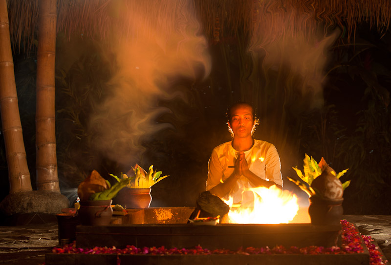 Lotus Village - Bali 2016 - Fire Ceremony ©Bali Yoga Travel