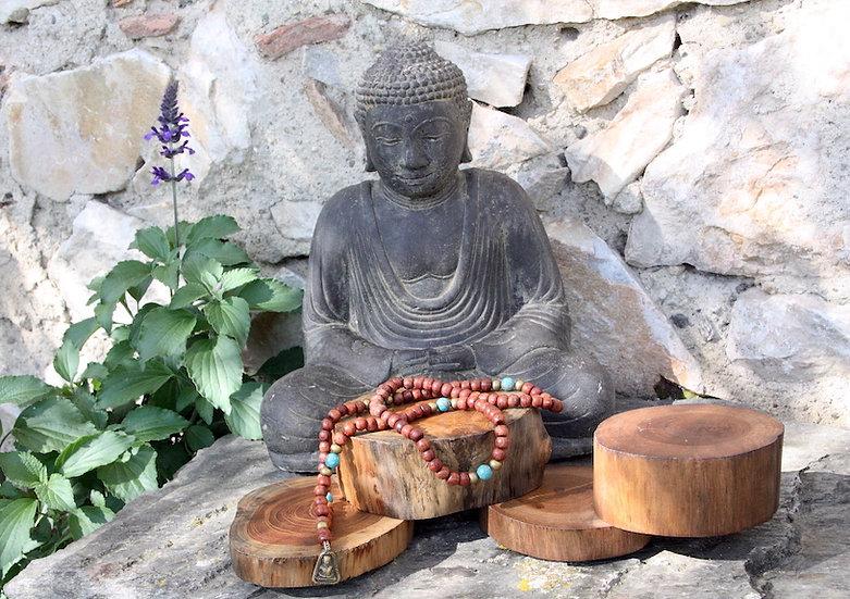 Mala de Méditation - Amulette Bouddha - Fait main