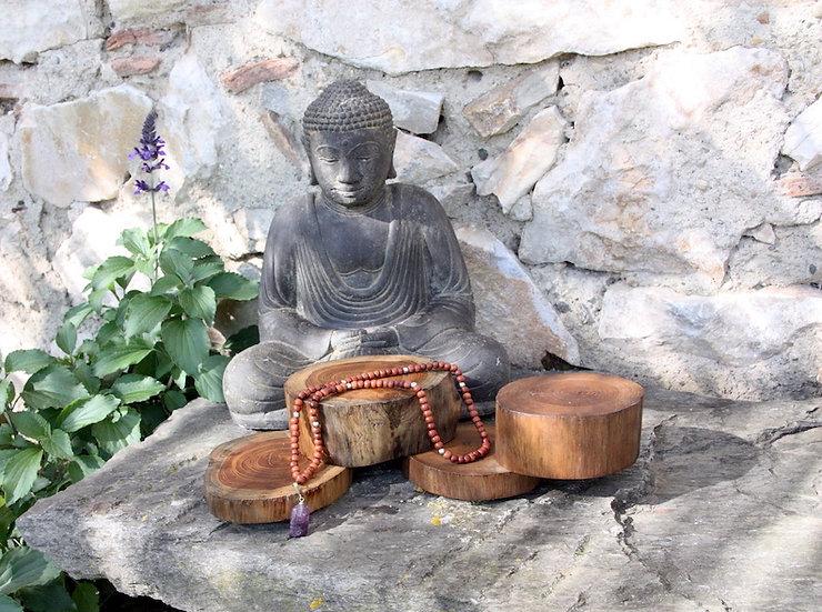 Mala de Méditation - Chakra Coronal - Fait main