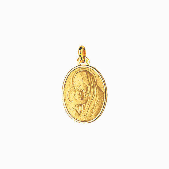 MEDAILLE VIERGE A L'ENFANT OVALE
