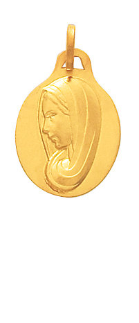 MEDAILLE VIERGE OVALE