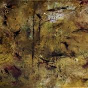 צל צהוב 1,שמן ופחם על בד, 60 -100