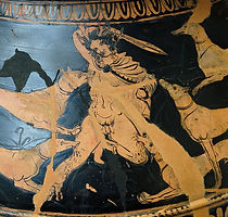 Actaeon attacked by his hounds Detail fr