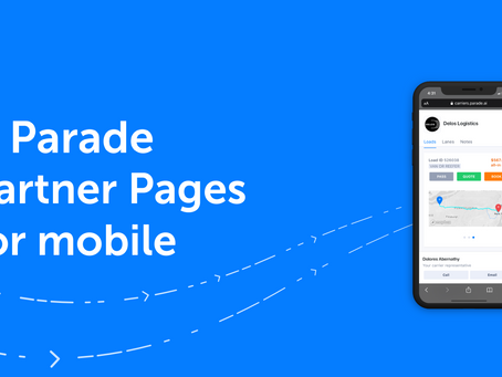Parade Partner Pages Now Mobile-Ready: Brings digital load booking to any device, from any location