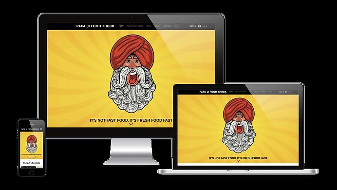 papaji foodtruck website mojojojo design