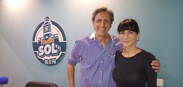 Cecilia gessa entrevistada por Claudio de Miguel para Radio Sol
