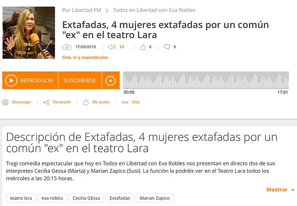 Entrevista radio cecilia gessa, libertad FM