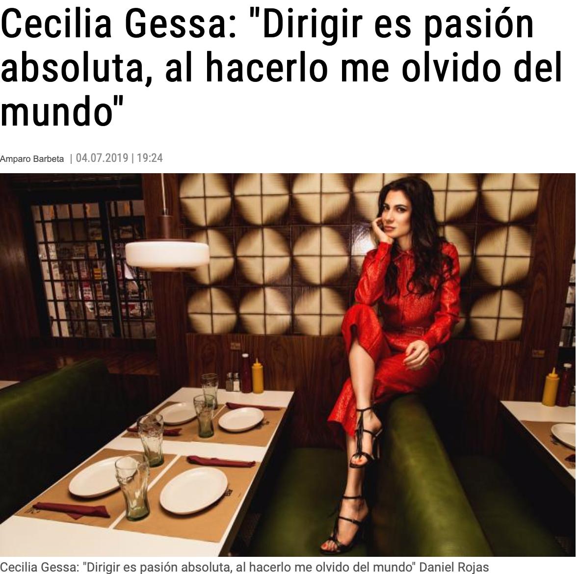 Cecilia Gessa en Extafadas