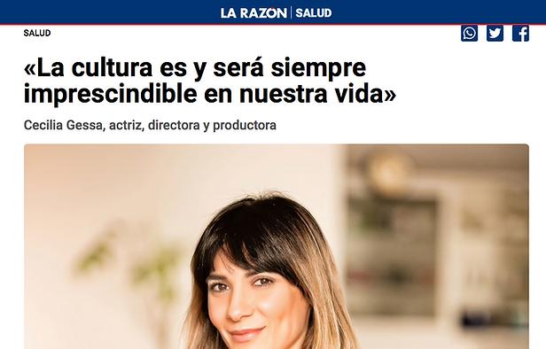 Cecilia Gessa entrevistada para La Razón.