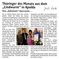 Thüringer des Monats 2011