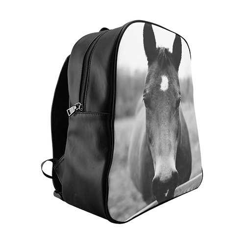 Horse in Monkton School Backpack