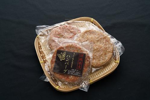 あぐー豚と県産牛のハンバーグ