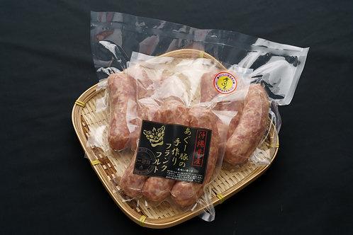 あぐー豚の手作りフランクフルト ニンニク味