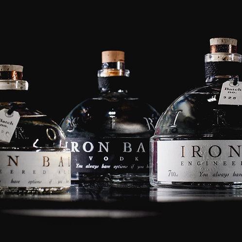 6 bottles 0,7cl Ironballs Vodka