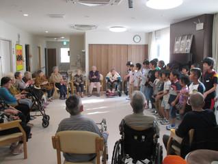 興居島小学校児童訪問