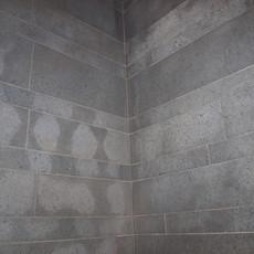 Basaltfliese Dusche vorher