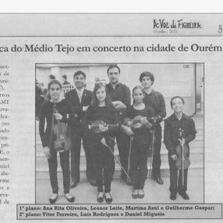 Students at Middle Tejo Academic Orchestra, 2015
